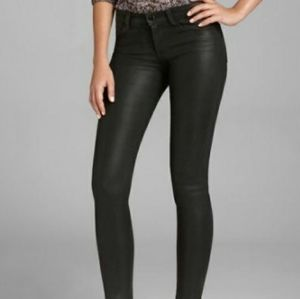 J. Brand Black Coated Super Skinny Jeans